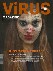« Virus Magazine supplément n°30 » photographisme de la série Virus Magazine © Julien Richetti, 2020 (impression format portrait 3:4 sur dibond)